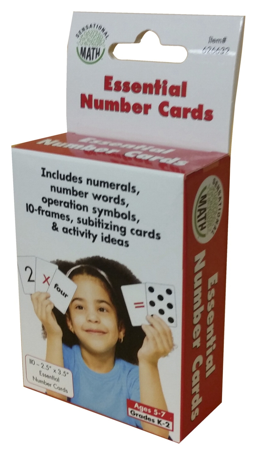 Toys Toys Math - 1567304 - Sensational Math Essential Number Cards; Grades K To 2 1567304