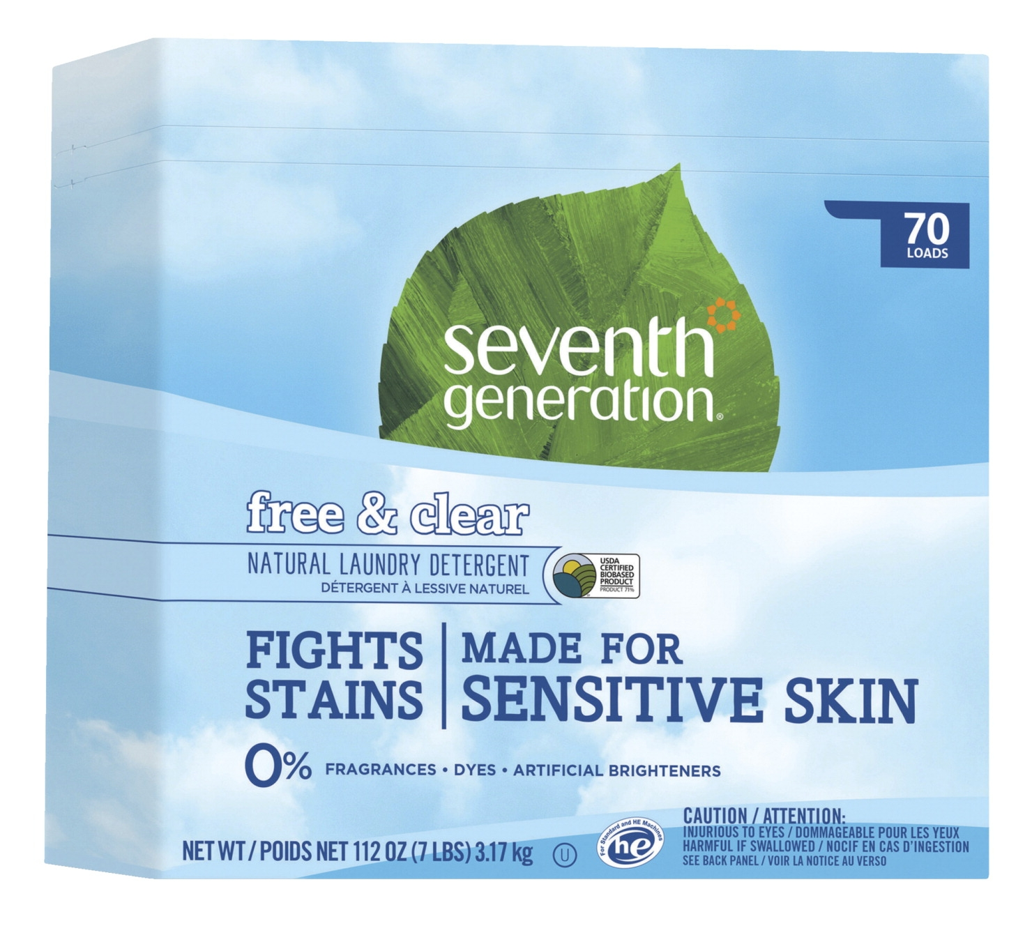 Seventh Generation Natural Powder Concentrated Laundry Detergent; Free And Clear Scent; 112 Ounces - 1406529 - Art Supplies Craft Supplies Paint Brushes Paint Supplies Paint Brush Cleaner 1406529