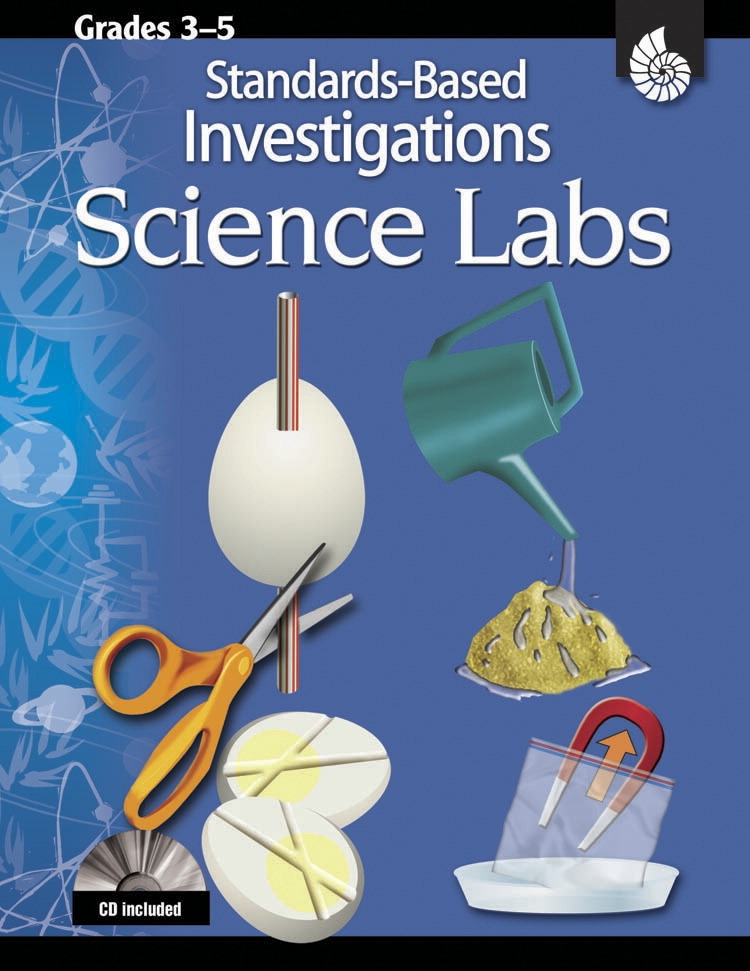 Shell Education Standards Based Labs For Science; Grades 3 To 5 - 1321284 - Instructional Materials Resources Science Activities Equipment Physical Science Projects Books 1321284