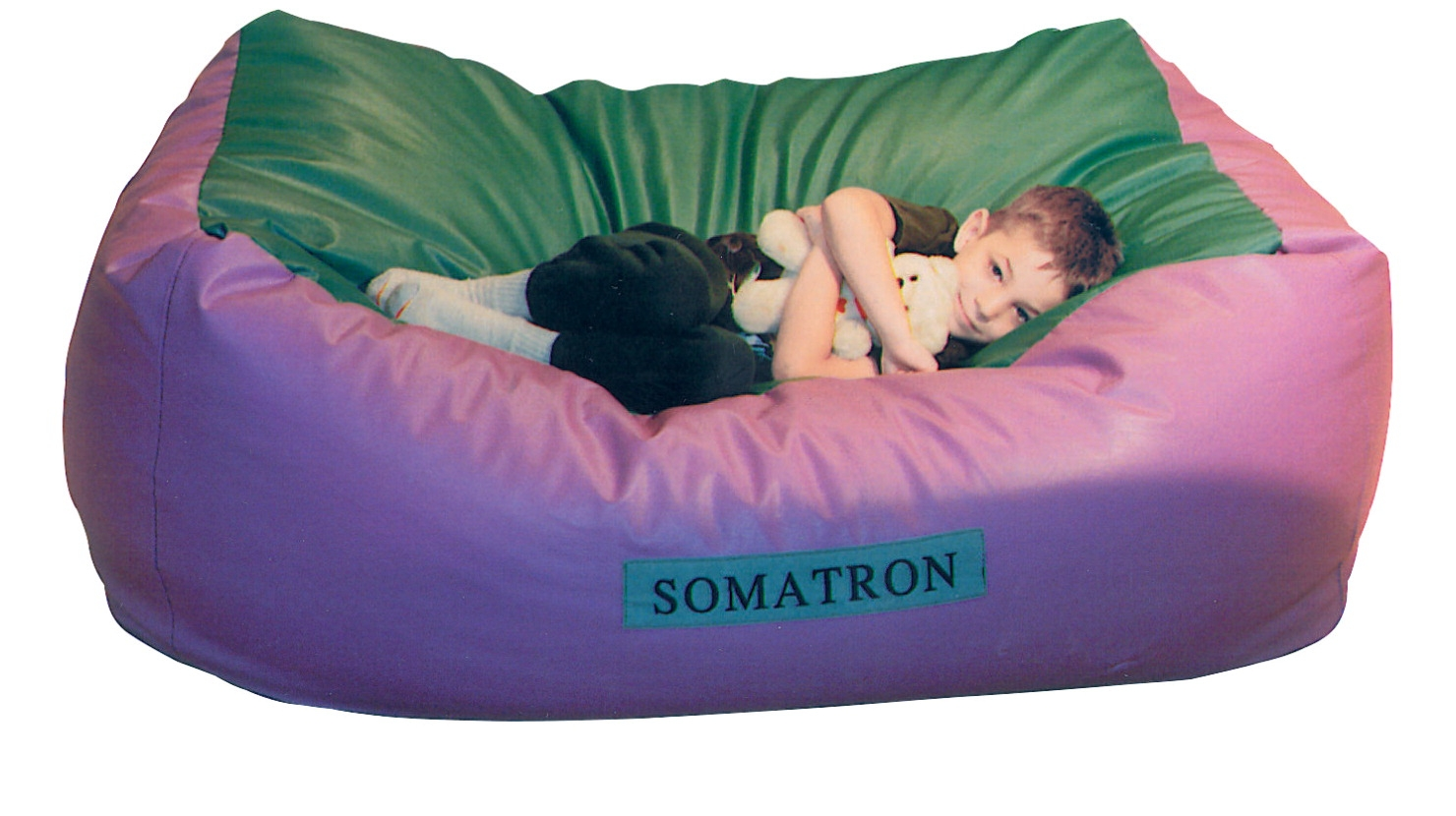 Somatron Body Pillow With Vibrations; 60 X 36 X 24 In; Leather Like Vinyl; Purple/green - 012765 - Basketball Bean Bags Sets 012765