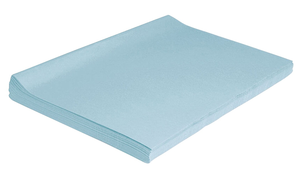 Special Needs Special Needs Art Papers - 214872 - Spectra Deluxe Bleeding Tissue Paper; 12 X 18 Inches; Sky Blue; Pack Of 50 214872