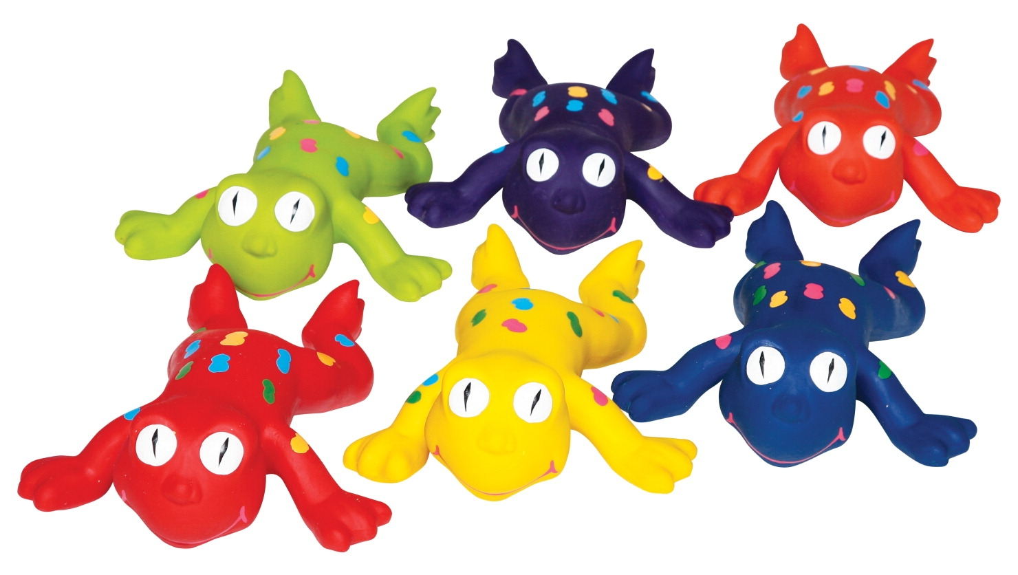 Sportime Rubberlike Frogs; Set Of 6 - 1449441 - Bowling Outdoor Activities Bowling 1449441