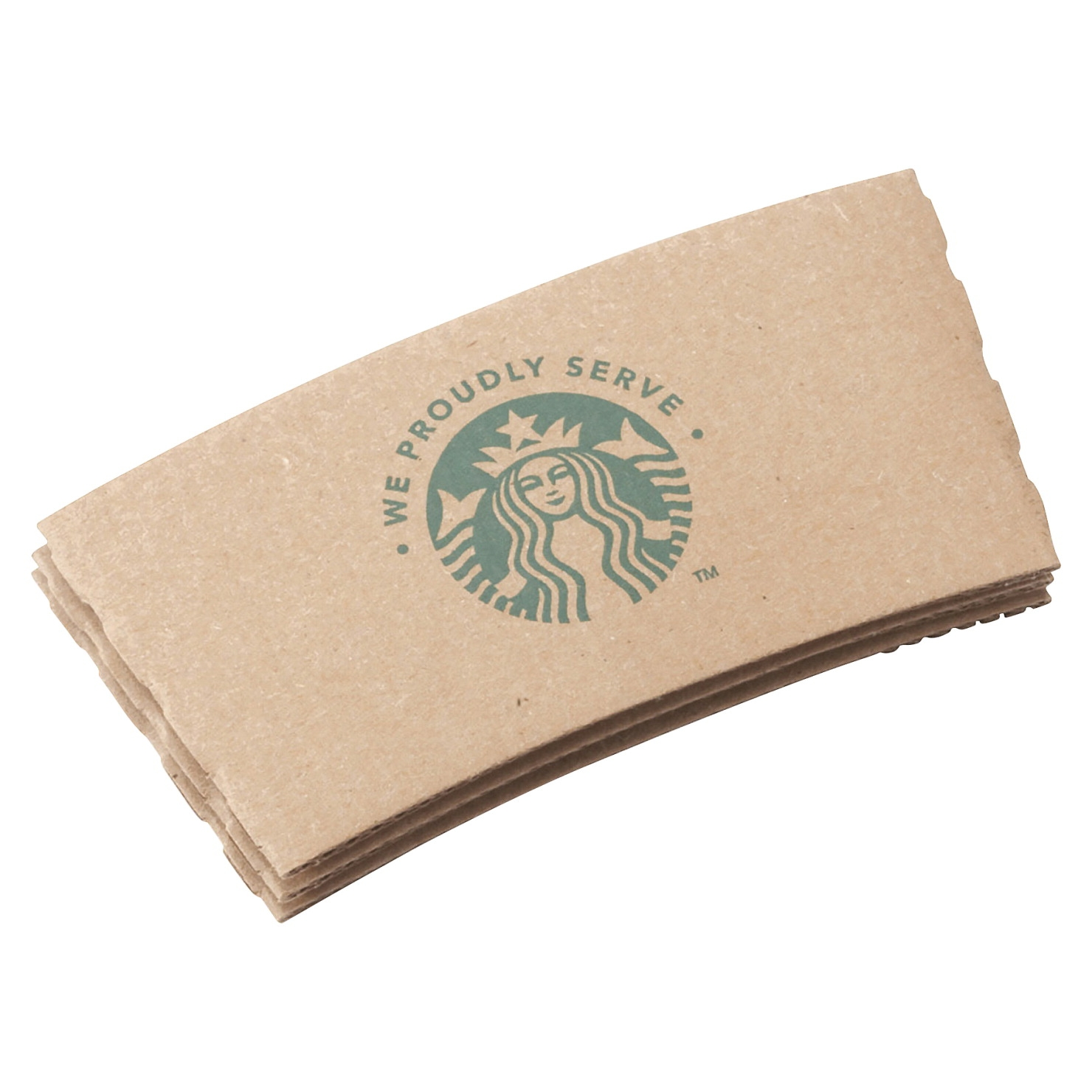 Starbucks We Proudly Serve Hot Cup Sleeve; 12-20 Oz; Fiber; Brown; Case Of 1360 - 1475110 - Baseball And Softball Baseball Athletic Supporter Cups 1475110