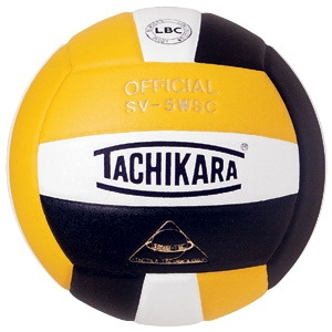 Volleyball Volleyball Balls Composite - 029395 - Tachikara Sv-5wsc Nfhs Composite Leather Volleyball; Gold/white/black 029395
