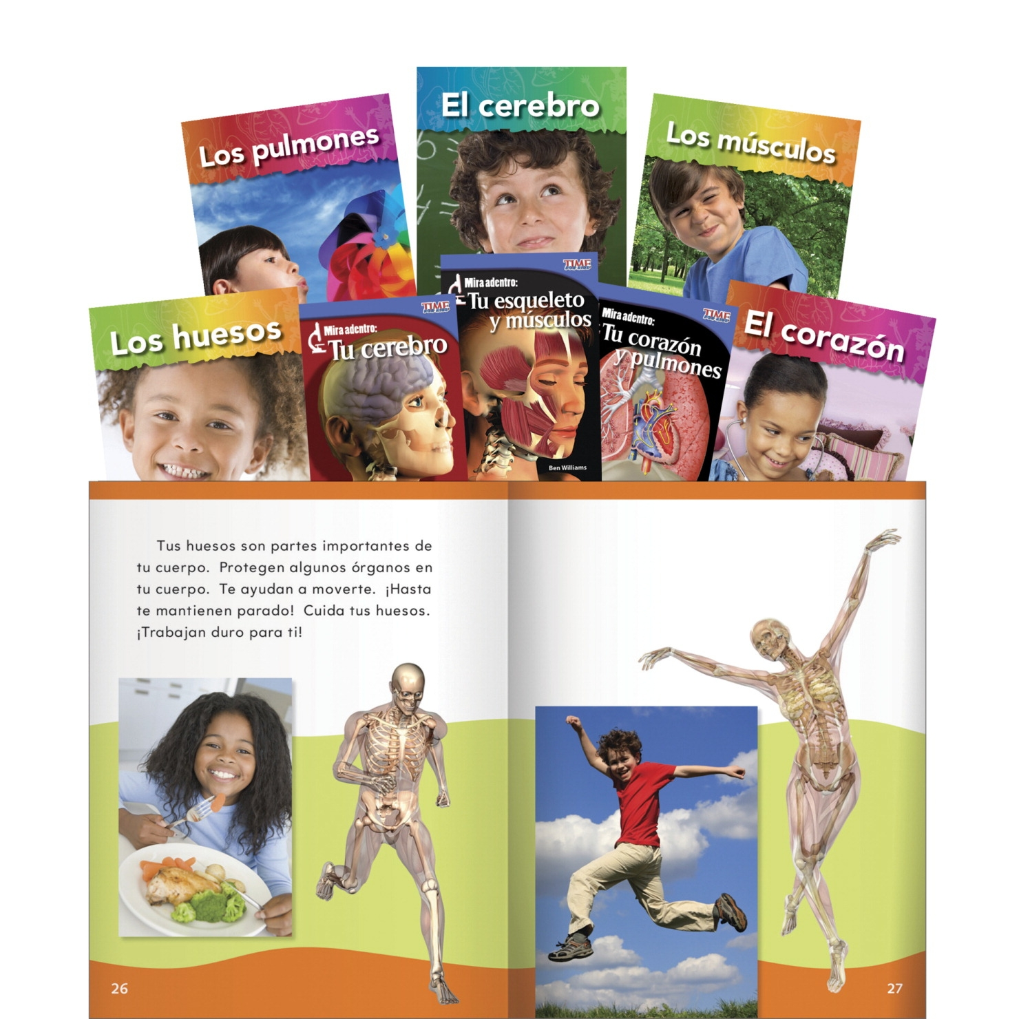 Teacher Created Materials Our Bodies Spanish Set; Grades 1 To 2; Set Of 8 - 1426715 - Instructional Materials Resources Science Activities Equipment Physical Science Projects Books 1426715