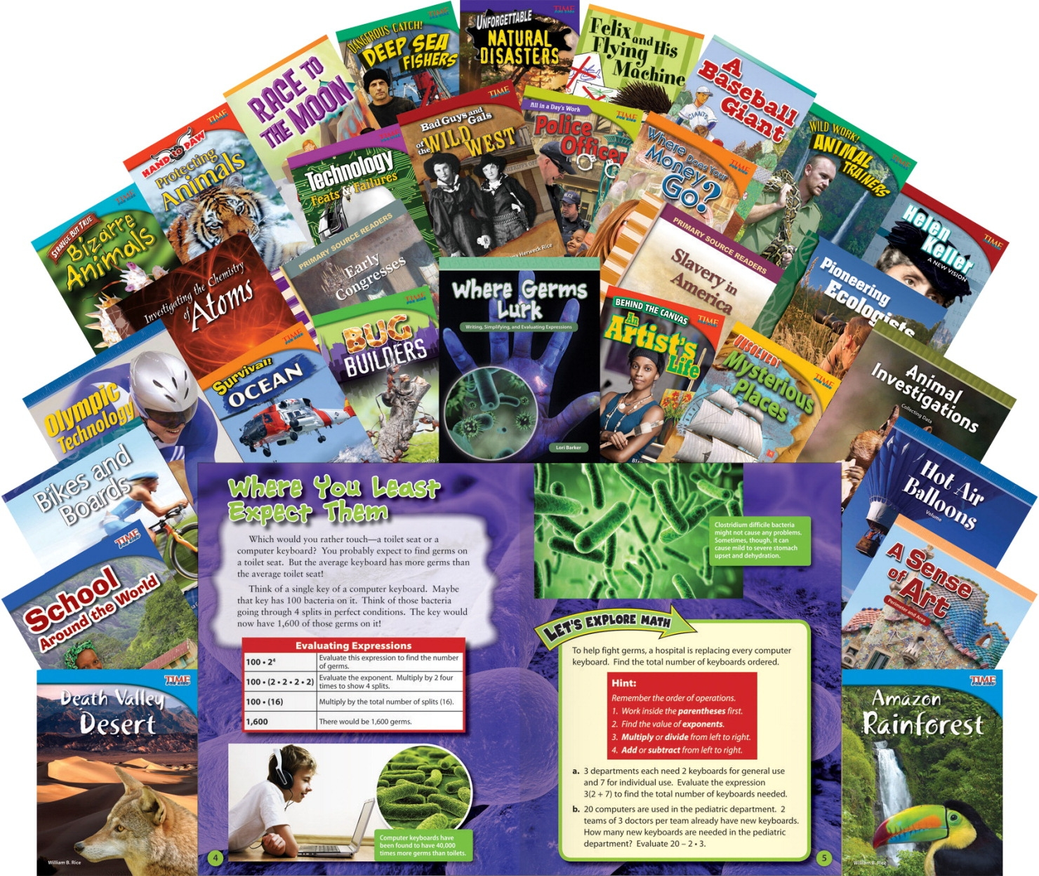 Teacher Created Materials Book Room Collection Book Set 4; Grades 3-5; Set Of 30 - 1495889 - Instructional Materials Resources Science Activities Equipment Physical Science Projects Books 1495889