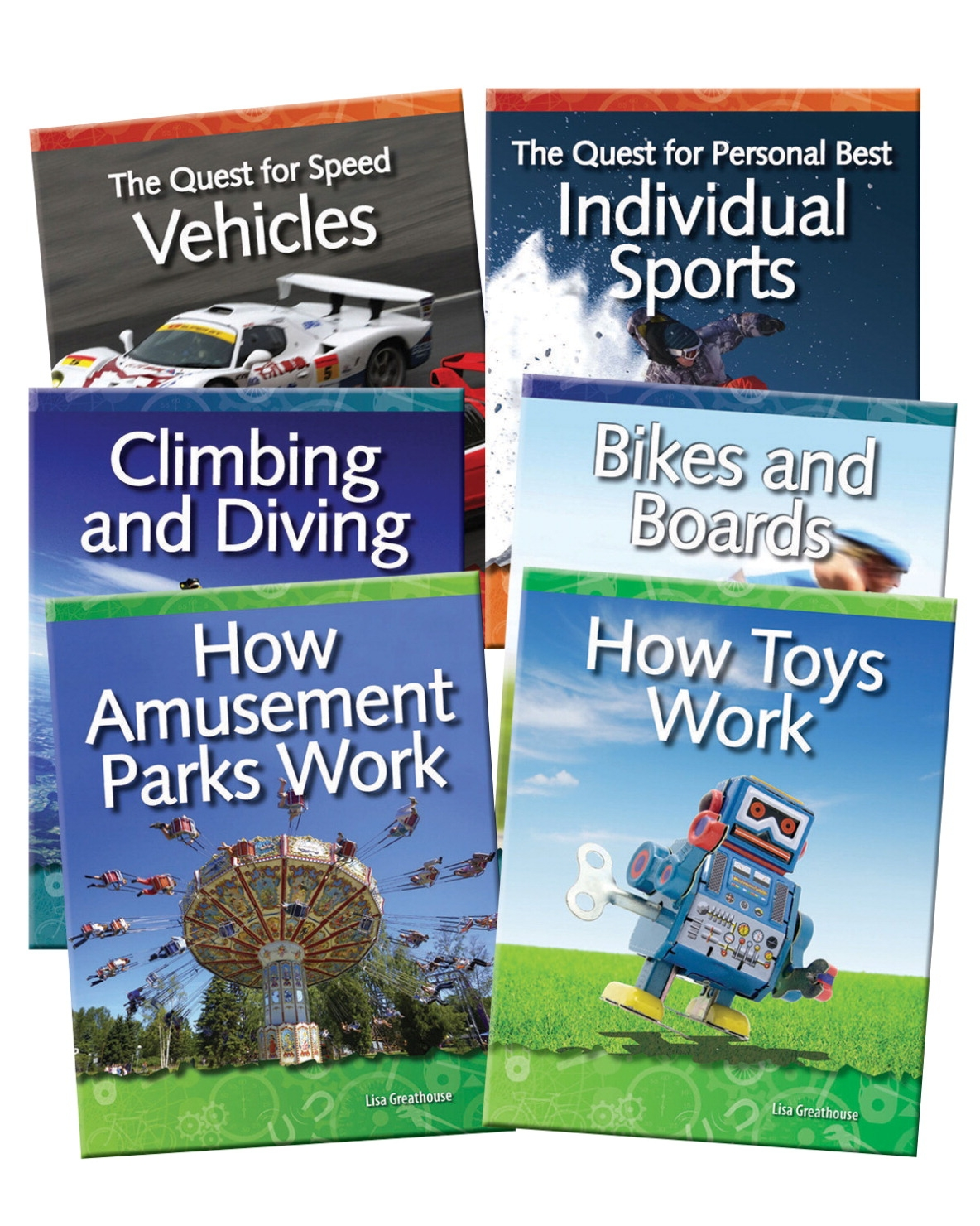 Teacher Created Materials Forces And Motion; Grades 3 To 5; Set Of 6 - 1362929 - Instructional Materials Resources Science Activities Equipment Physical Science Projects Books 1362929