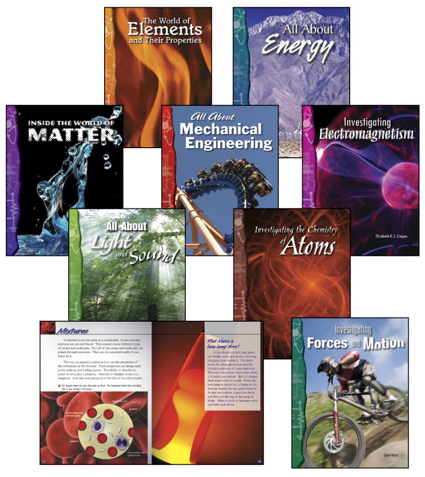 Teacher Created Materials Physical Science Set; Grades 6 To 8; Set Of 8 - 1362924 - Instructional Materials Resources Science Activities Equipment Physical Science Projects Books 1362924