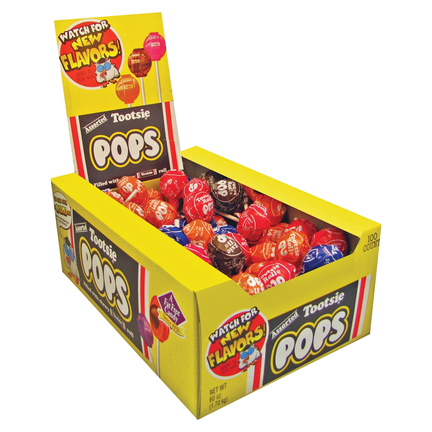 Tootsie Assorted Flavor Candy Center Lollipop; 60 Oz; Pack Of 100 - 1474395 - Facilities Management Facility Supplies Foodservice 1474395