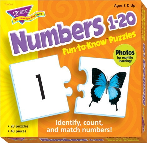Toys Manipulatives - 090549 - Trend Enterprises Numbers 1 To 20 Puzzle Set 090549