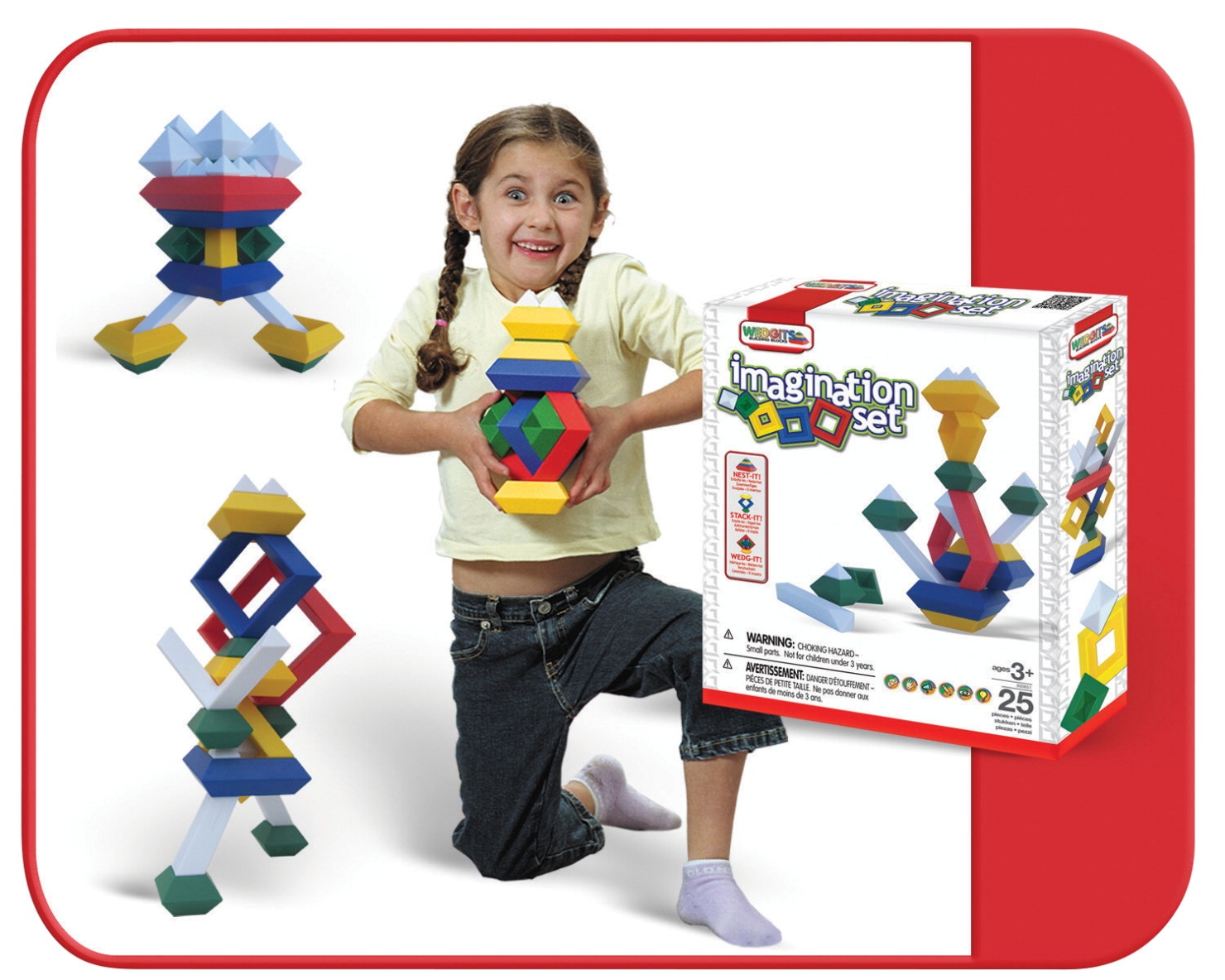 Toys Building Toys Blocks - 1445384 - Wedgits Building Block Set; Set Of 25 1445384
