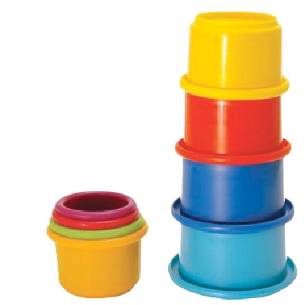 The First Years By Tomy Stacking Cup Set; Assorted Colors; Set Of 8 - 1282538 - Stacking Sport Stacking 1282538