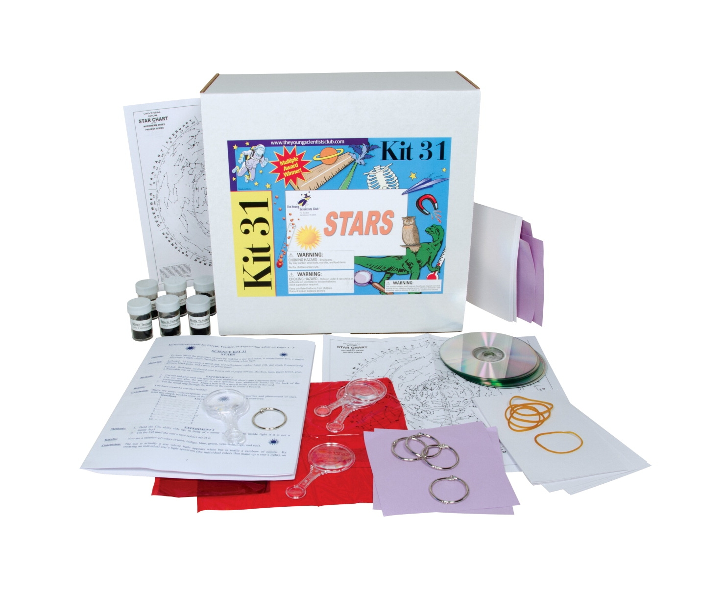Young Scientists Club Stars Kit; 13 In W X 10 In H X 8 In D - 1464098 - Instructional Materials Resources Science Activities Equipment Physical Science Projects Books 1464098