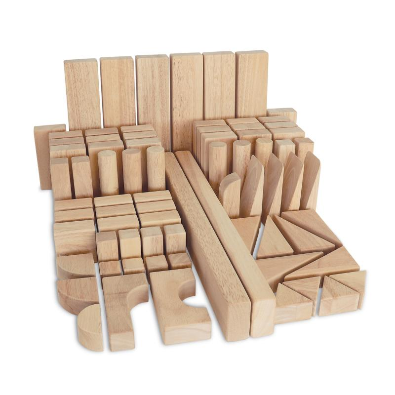 Hardwood Beginner Block Set: 75 Blocks - Wb0368 - Building Wooden Blocks WB0368