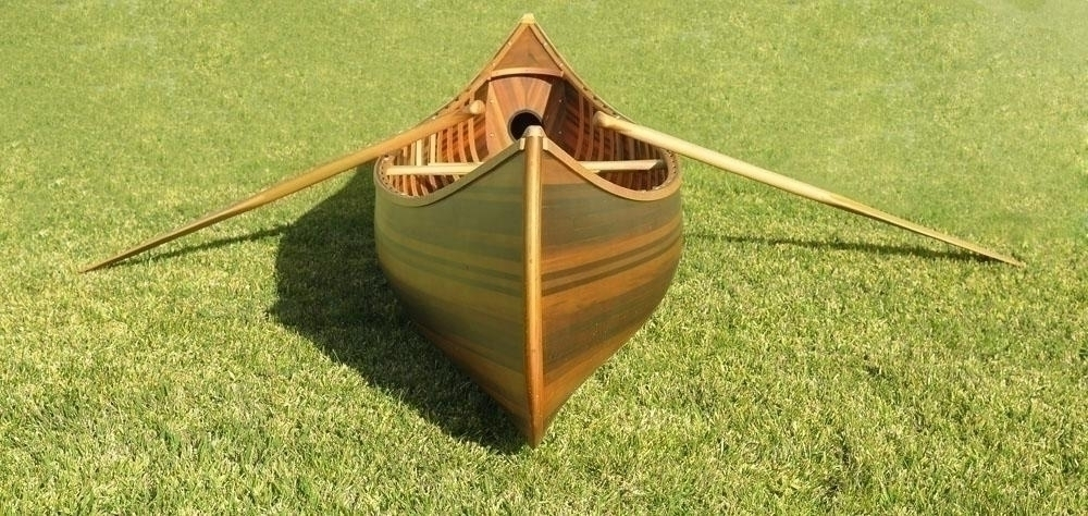 Canoe With Ribs Curved Bowith Matte Finish 10 Feet - K034m - Decor Boats / Canoes K034M