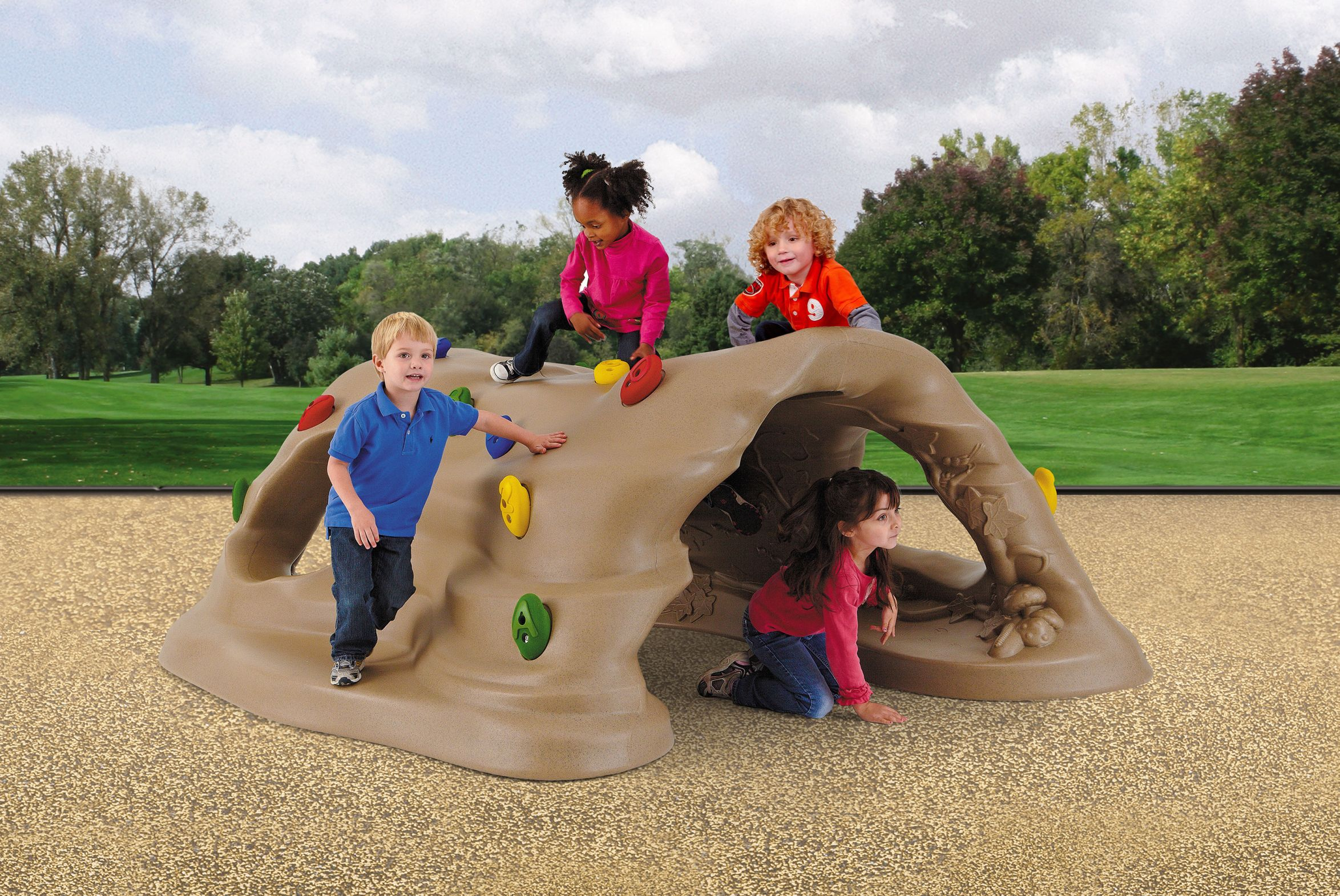 Climb & Discover Cave; Inground (standard Handholds) Natural - Up121 - Toys Conceptual Knowledge Of The Natural And Physical World UP121