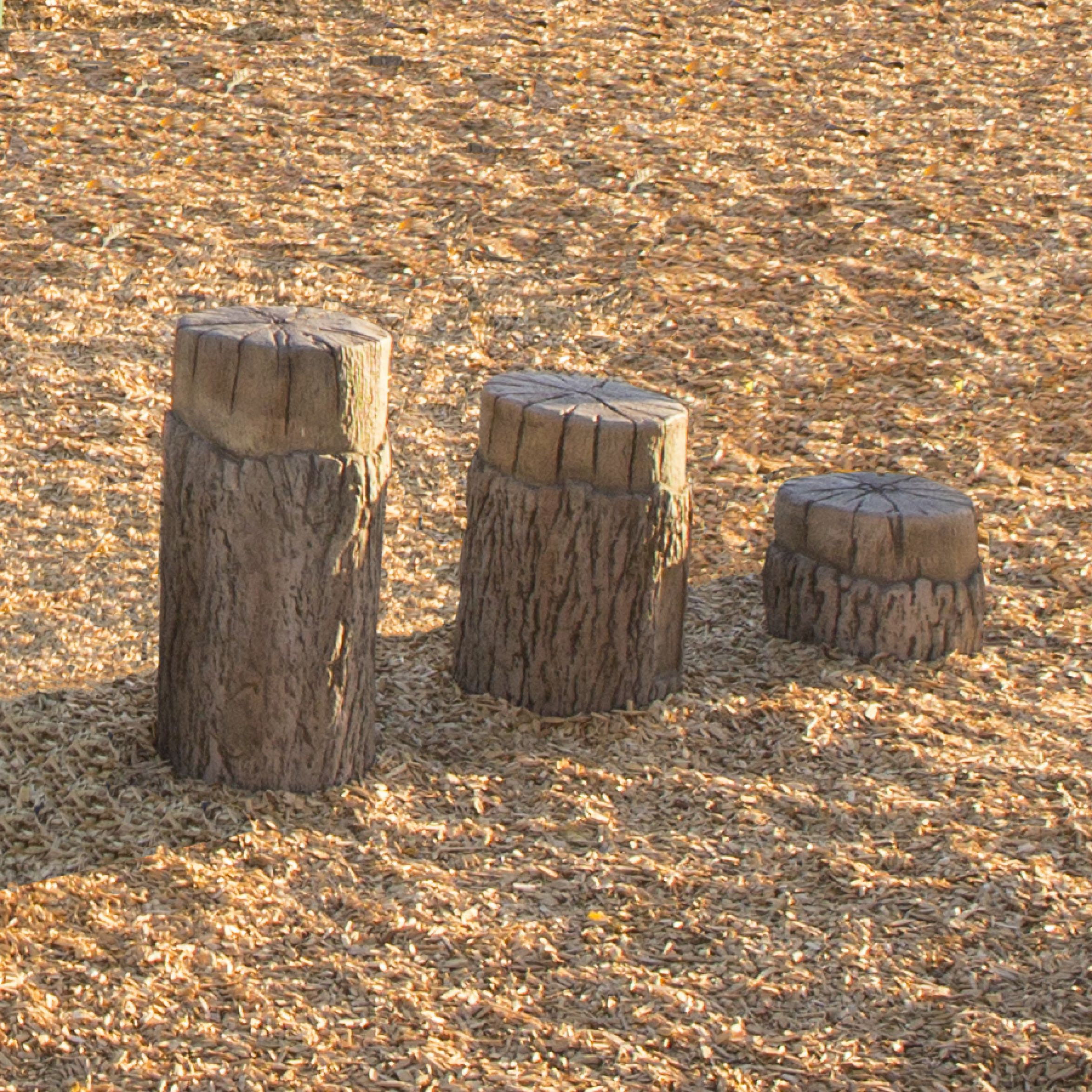 Tree Stumps - Set Of 3 (5-12 Yr.) Includes 1 Small; 1 Medium And 1 Large Stump - Up500 - Yoga And Pilates Eyebags And Neckpillows UP500