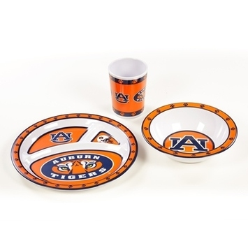 "Auburn Kid""s Dish Set - 31145 - Collegiate Sports Ncaa College Auburn Aub Tigers Kids Dish Sets 31145"