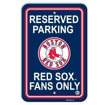 Baseball Mlb Baseball Boston Red Sox Plastic Parking Sign - 60202 - Boston Red Sox Parking Sign 60202