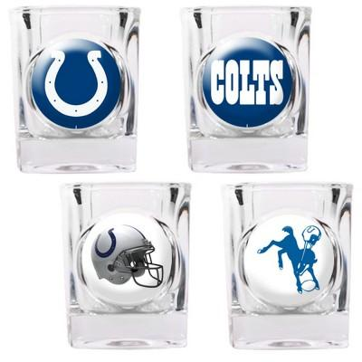 Indianapolis Colts 4 Pc Shot Glass Set - 41124 - Football Nfl Football Indianapolis Colts Shot Glasses 41124