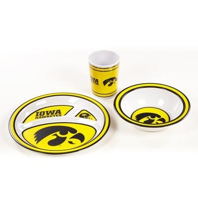 "Collegiate Sports Ncaa College Iowa Iowa Hawkeyes Kids Dish Sets - 31124 - Iowa Kid""s Dish Set 31124"