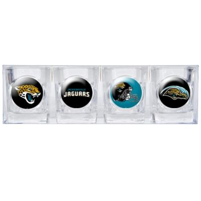 Jacksonville Jaguars 4 Pc Shot Glass Set - 41130 - Football Nfl Football Jacksonville Jaguars Shot Glasses 41130