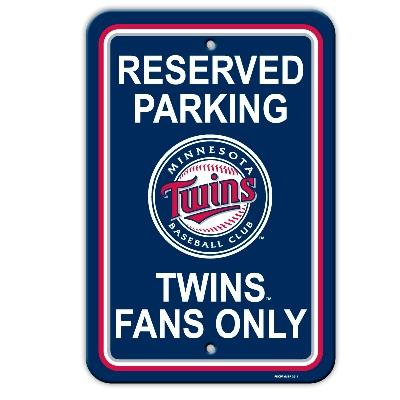 Baseball Mlb Baseball Minnesota Twins Plastic Parking Sign - 60209 - Minnesota Twins Parking Sign 60209
