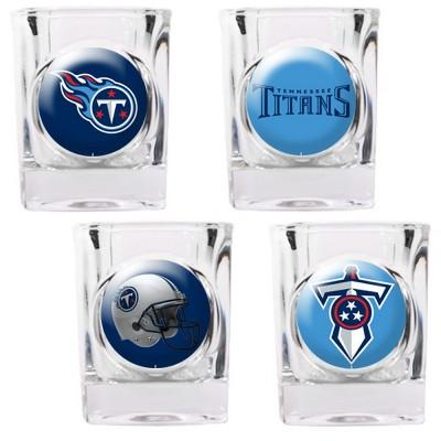 Tennessee Titans 4 Pc Shot Glass Set - 41143 - Football Nfl Football Tennessee Titans Shot Glasses 41143