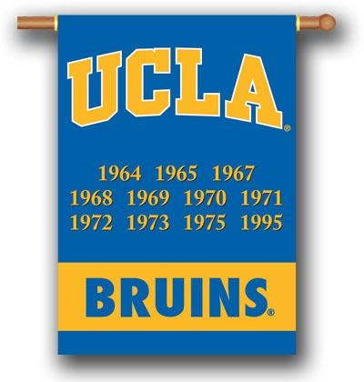 Ucla Championship Years 2-sided Banner - 96253 - Collegiate Sports Ncaa College Ucla Ucla Bruins 2sided Garden Flags 96253