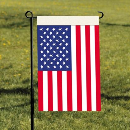 "Usa Garden Flag 13x18 Usa Garden Flag 13""x18"" With Plastic Pole And Suction Cups. - 10113 - Tennis Court Equipment Fencing And Fence Poles 10113"