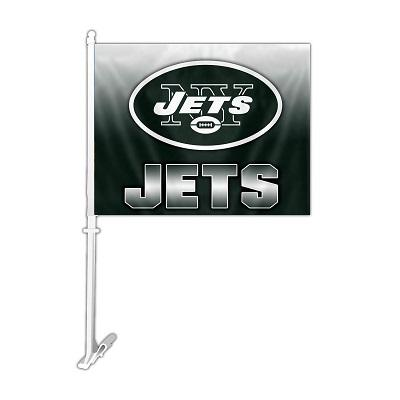 New York Jets Ombre Car Flag - 99739 - Football Nfl Football New York Jets Car Flags 99739