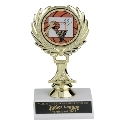 05-1/2 Inch Wreath Trophy; Holds Medallion Insert - Tr7080 - Awards Traditional Column TR7080