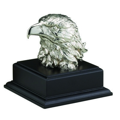 06-1/2 Inch Eagle Head Trophy; Silver Electroplated; Without Plate - Ae7854 - Awards Trophy Eagles Plates AE7854