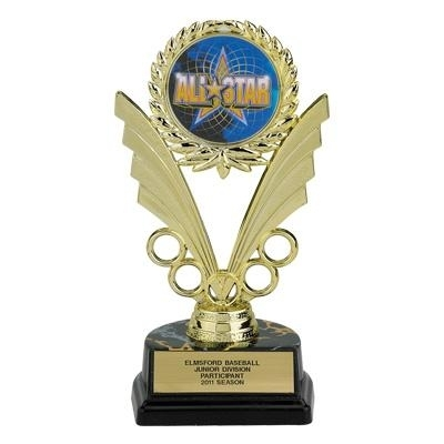 07-1/4 Inch Black Base Trophy; Holds Medallion Insert - Tr7085 - New Academic Awards And Trophies TR7085