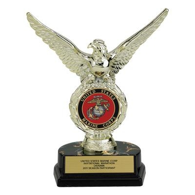08 Inch Eagle Trophy; Holds Medallion Insert - Tr7089 - Awards Traditional Column TR7089
