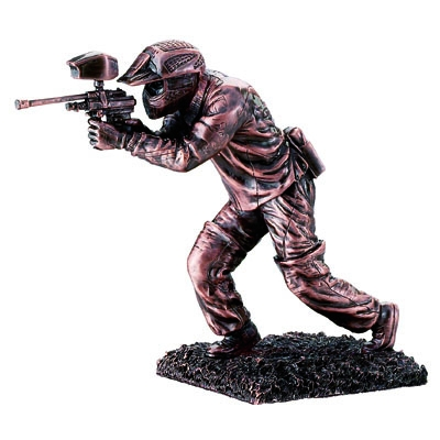 10-1/2 Inch Paintball Figure; Bronze - F915b - Trophies And Awards Closeouts F915B