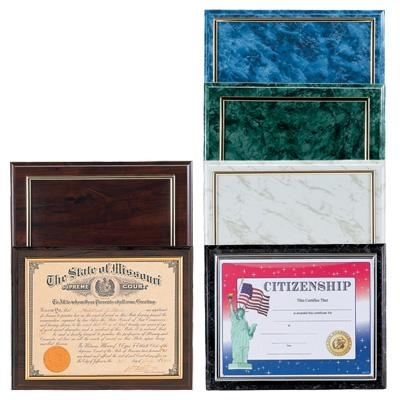 Gifts Trophies & Awards - Pn4931wlg - 10-1/2x13 Plaque Holds 8-1/2x11 Certificate; Gold Raised Border - Multiple Colors PN4931WLG