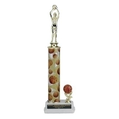 13; 14; 15 Inch Sport Column Trophy With Trim - Tr710503a - Traditional Sports Trophies Action Interchangeable TR710503A