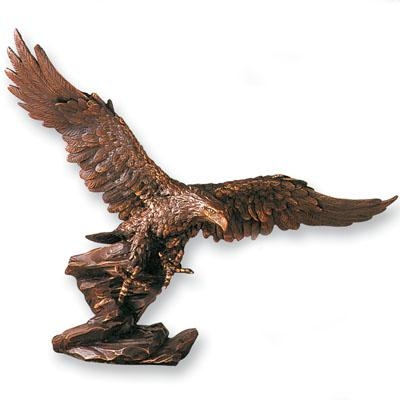 13 X 16 Inch Bronze Eagle Cast - X8499 - Awards Trophy Eagles Without Plates X8499