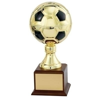 13 Inch Gold Soccer Ball Trophy With 6-1/4 Diameter - Tr5763g - Awards Cups And Balls TR5763G