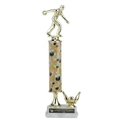 14; 15; 16 Inch Sport Column Trophy With Trim - Tr709208a - Traditional Sports Trophies Action Interchangeable TR709208A