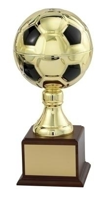 15 Inch Gold Soccer Ball Trophy With 7 Diameter - Tr5764g - Awards Cups And Balls TR5764G