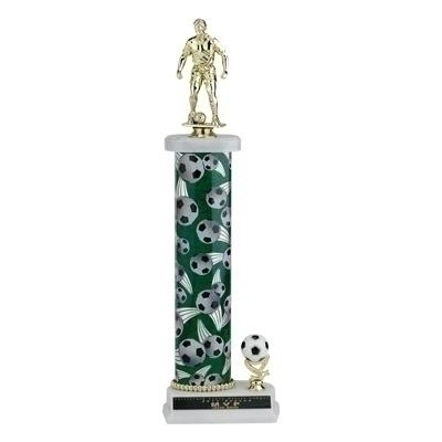 Tennis Trophies & Awards Trophies - Tr709301a - 16; 17; 18 Inch One Column Sports Trophy With Trim TR709301A