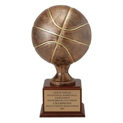 16 Inch Resin Basketballtrophy - Tr7051bk - Trophies And Awards Key Chains TR7051BK