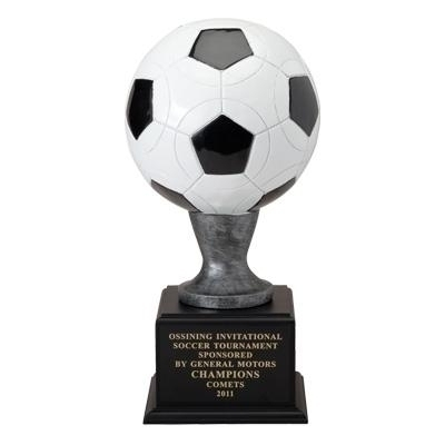 16 Inch Resin Soccer Ball - Tr7052bk - Trophies And Awards Key Chains TR7052BK