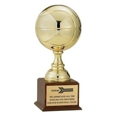 19-1/2 Inch Gold Basketball Trophy With 9 Diameter Ball - Tr7182g - Awards Cups And Balls TR7182G
