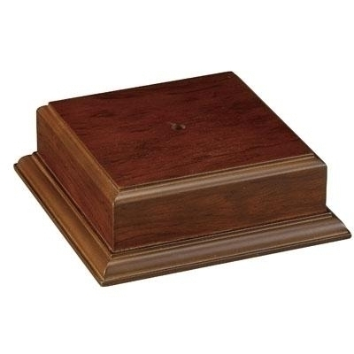2-1/8 X 3-1/2 Walnut Finish Base For Bowl Or Cup - Xu3171 - Awards Trophy Eagles Without Plates XU3171
