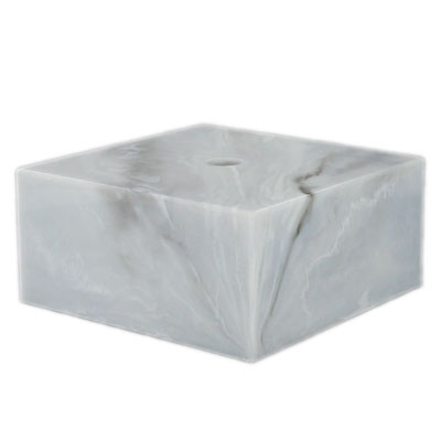 2-1/2 X 1 Marbleized White Base - X7677wh - Awards Trophy Eagles Without Plates X7677WH
