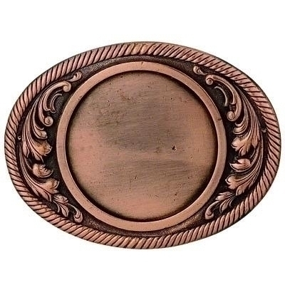 2-3/4 X 3-5/8 Belt Buckle Bronze - X2814b - Trophies And Awards Component Parts X2814B