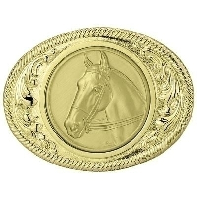 2-3/4 X 3-5/8 Belt Buckle Gold For 2 Inch - X2814g - Trophies And Awards Component Parts X2814G